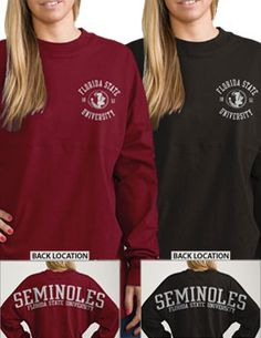 Florida State University Seminoles Women's Ra Ra Football Long Sleeve T-Shirt | Florida State University garnet