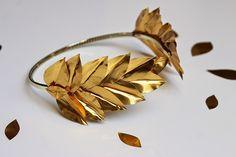 Tiboudnez: ♥ DIY - Une couronne de lauriers dorés ♥ tiboudnez, blog, do it yourself, diy, tuto, mode, beauté, blogueuse, lifestyle, glitters