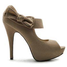 d0ed377ff528 Ollio Womens Pumps Platform Open Toe High Heels Ribbon Accent Multi Colored  Shoes Beige) Ollio