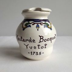 French vintage mustard pot Moutarde Bocquet Yvetot by MaisonMaudie