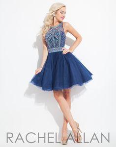 Rachel Allan 4077 Navy Homecoming Dress
