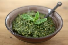 Basil Mint Pesto (That You'll Want to Eat With a Spoon) - www.twolazygourmets.com