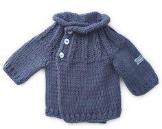 Baby Jacke aus 100% Baumwolle, vorne gekreuzt zum selber stricken für das Neugeborene.
