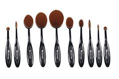 2016 Updated Version Professional 10 Pcs Soft Oval Toothbrush Makeup Brush Sets Foundation Brushes Cream Contour Powder Blush Concealer Brush Makeup Cosmetics Tool Set >>> Check out this great product. (Note:Amazon affiliate link)