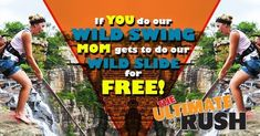 We are hoping that the national lockdown will be lifted so that you can add adventure to your day with our Mother's Day promotion!  Do our Wild Swing and mom gets to do our Wild Slide for FREE!  For all of the moms who love adventure but would like to do something a little milder than our Wild Swing, why not celebrate a day dedicated to you by doing our Wild Slide?  What is the Wild Slide: The Wild Slide is an awesome experience that enables you to safely glide across the span of Oribi…