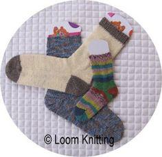 Loom Knitting: Any Loom, Any Yarn, Any Size Sock!  loomknittingblog.blogspot.com