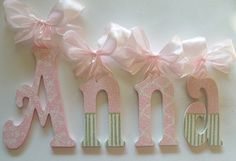 Wood Letters  Wooden Wall Letters  Baby Name от acharmedlifeinc, $15.00
