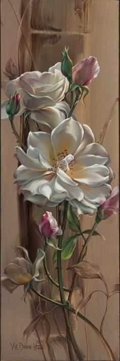 Vie Dunn Harr Flower Art found her artistic expression slowly, yet deliberately, and continues to explore the many Art Floral, Art Amour, Botanical Art, Beautiful Paintings, Love Art, Painting Inspiration, Amazing Art, Awesome, Beautiful Flowers