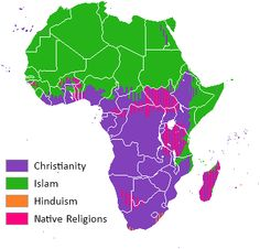 Religion distribution Africa crop - Africa - Wikipedia, the free encyclopedia Ap World History, African History, Black History, Historical Maps, Historical Pictures, Religion In Africa, Teaching 6th Grade, Ap Human Geography, Islam