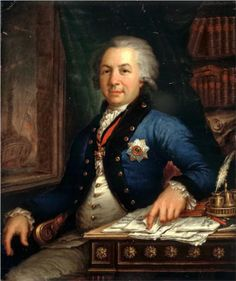 1795 Portrait of the Russian poet Gavril Derzhavin by Vladimir Borovikovsky