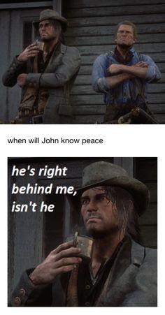 Gamer Humor, Gaming Memes, Red Dead Redemption Game, John Marston, Read Dead, Rdr 2, Having No Friends, Red Vs Blue, Dead Memes
