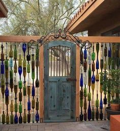Cool use of glass bottles. .