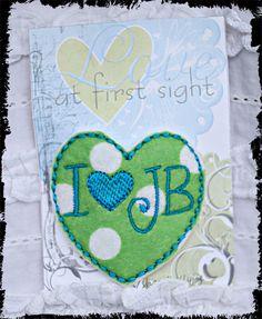 I love heart JB  Justin B hairclip polka dot  Bieber by kellyjoe, $3.25
