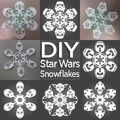 How to: Make Star Wars Snowflakes (Free Templates Included) » Man Made DIY | Crafts for Men « Keywords: holiday, snowflake, paper templets....is this for real !?