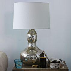 Gourd Table Lamp - Mercury