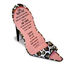 Paper So Pretty PSP SND919 leopard and GIRL PARTY INVITATIONS, LEOPARD HEEL SHOE, PAPER SO PRETTY