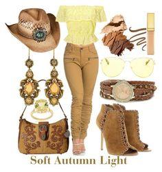 Soft Autumn Light by prettyyourworld on Polyvore featuring Miss Selfridge, Michael Kors, American West, Pearlz Ocean, XOXO, Overland Sheepskin Co., Guerlain, AERIN and Bobbi Brown Cosmetics