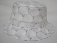 生地:コットン(ゴルフボール柄)サイズ:フリー(約59cm、ブリム幅:約5cm)|ハンドメイド、手作り、手仕事品の通販・販売・購入ならCreema。