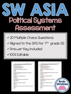 Middle east lesson plan collection 7 lessons middle east political systems of southwest asia assessment editable publicscrutiny Image collections