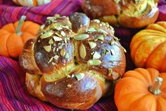 Pumpkin Challah, just in time for Thanksgiving, Sukkot, or Rosh Hashanah!