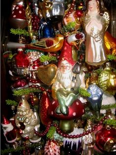 German Ornaments. I've been collecting these for years. They really make your tree sparkle