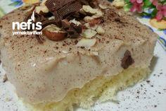 Kahve Kremalı Enfes Yaz Pastası (Çok Hafif )