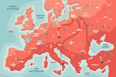 Animated Map - HAST on Behance