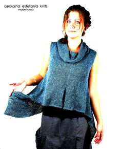 Textured Cowl Tank $118.00 www.georginaestefania.com MADE IN USA