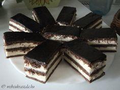 Hungarian Cake, Hungarian Recipes, Oreo Cupcakes, Kakao, Tiramisu, Goodies, Candy, Food And Drink, Chocolate