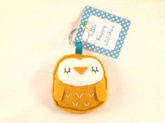 Felt Owl Keyring by littlehappystitches on Etsy, $10.00