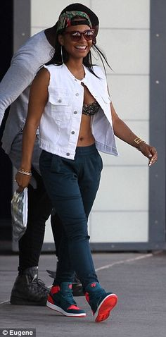 Double trouble: Christina Milian wore two very different looks on Friday in Los Angeles, California
