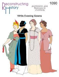 Titanic evening gown | 1910s evening gown pattern | Downton Abbey Evening Gown... So I'm going to dress in period attire from now on, lol