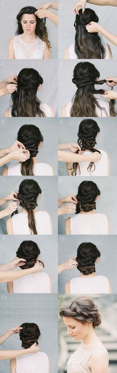 Crown Braid Wedding Hairstyles for Long Hair / Braid Wedding Hairstyles for Medi