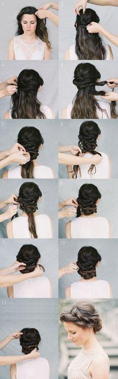Crown Braid Wedding Hairstyles for Long Hair / Braid Wedding Hairstyles for Medi