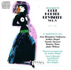 Harvey Schmidt 1990 Ben Bagley's Cole Porter Revisited, Vol. V [Painted Smiles PSCD-122] #albumcover #fashion