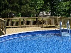 Above Ground Pool Pictures With Decks | Above ground pool decking | Underground swimming pools