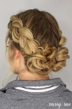 hair hair updos 42 Braided Prom Hair Updos To Dutch Braid Bun, French Braid Ponytail, Messy Bun With Braid, Dutch Braids, Messy Buns, Braid Into Bun, Low Bun Braid, Double Dutch Braid, Low Buns