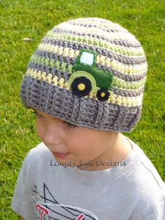 Crochet+Tractor+Hat+Photo+Prop+Sizes+12+MONTHS+by+LooptyLooDesigns 92455b5dd720