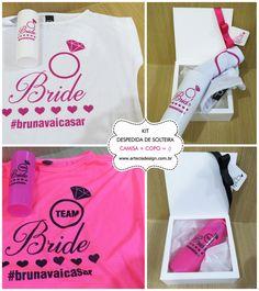 Kit para Chá de Lingerie, Team Bride, Despedida de solteira <3 ARTE E CIA DESIGN - Orçamento Grátis <3 http://www.casareumbarato.com.br/guia/arte-cia-design/
