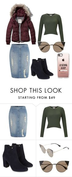 """""""Puffer jacket all the way"""" by the-daily-crafts ❤ liked on Polyvore featuring Abercrombie & Fitch, Calvin Klein, Miss Selfridge, Monsoon, Fendi, Casetify, Modest, apostolic, pentecostal and pufferjacket"""