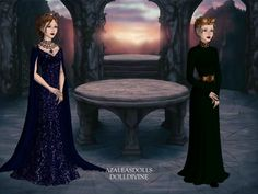 "thecourtofdreamss: ""Feyre Archeron, High Lady of the Night Court & Aelin Ashryver Galathynius, Queen of Terrasen """