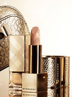 Burberry make-up and accessories in festive gold hues from the A/W13 festive collection