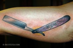 1000 images about tattoo traditional knife on pinterest for Straight edge razor tattoo