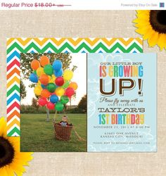 SHARE THE LUCK Sale Up Balloon Birthday Party - Printed Invitations or Printable File