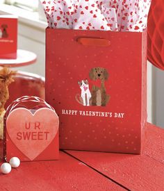 VALENTINE PALS GIFT BAG by Design Design Happy Valentines Day, Valentine Day Gifts, Design Design, Gift Wrapping, Bag, Sweet, Cards, Gift Wrapping Paper, Candy