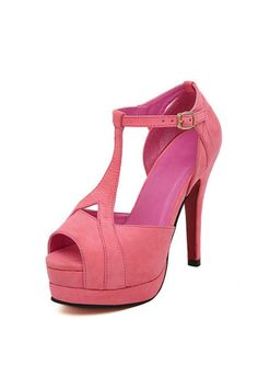 Chic Peeptoe Heel Sandals OASAP.com——Free Shipping over $38!! Only on Mar.8th!!!