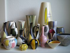 50s 60s Vase collection bowls fat lava Ziegler Rosenthal B… | Flickr