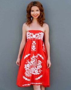 Bluseagal - Travel by Day Red Gypsy Dress, $76.00 (http://www.bluseagal.com/products/travel-by-day-red-gypsy-dress.html)