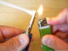 DIY Single Use Antibiotic Pouches :: straw, lighter, pliers, scissors