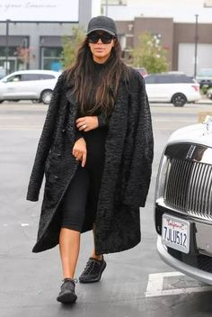 Kim Kardashian | Adidas Yeezy 350 Boost Sneakers | Celebrity Fashion and Style